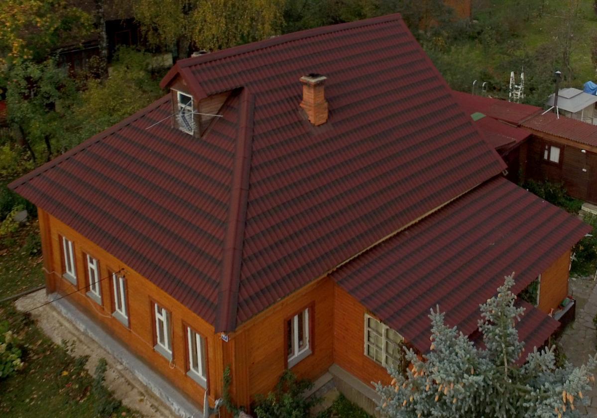 Onduline tile house