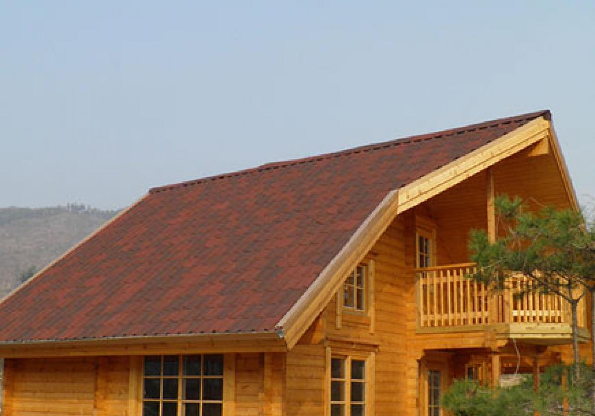 Onduvilla tile shaded red roof chalet
