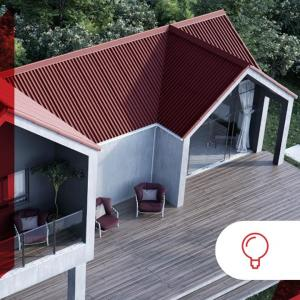 Our Onduline roofs contribute to making the design of your home appealing and m…
